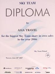 Sky Team dla Asia Travel