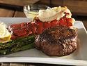 filet mignon steak with lobster tail sur