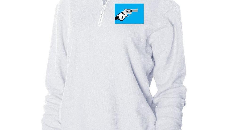 Nerdy Fresh Cartoon Gun Herrington Fleece 1/4 Zip Up Sweatshirt