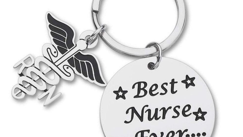 Best Nurse Ever Gift Key chain