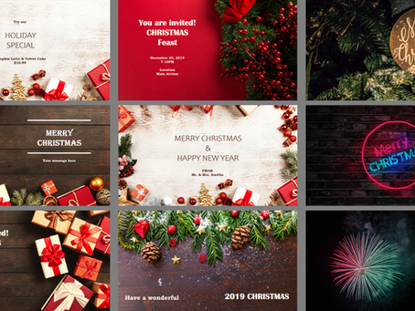 Free Christmas & New Year Templates for Digital Signs