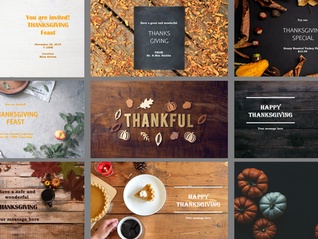 Free Thanksgiving Templates for Digital Signs