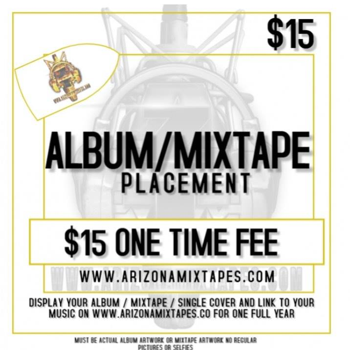 ALBUM/MIXTAPE PLACEMENT