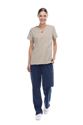 Coordinado beige con azul pijama dama