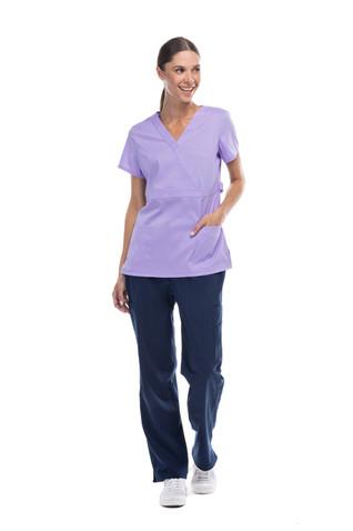 Pijama quirúrgica coordinado lila