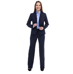 Traje Formal para Dama Azul Marino