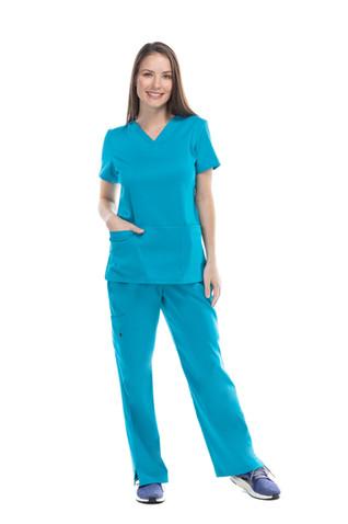 Pijama quirúrgica dama aqua