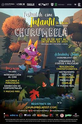Poster Festival de Cine Infantil Churumbela 2021