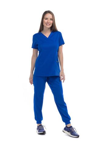 Pijama quirúrgica dama azul