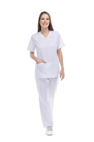 Conjunto enfermería dama blanco