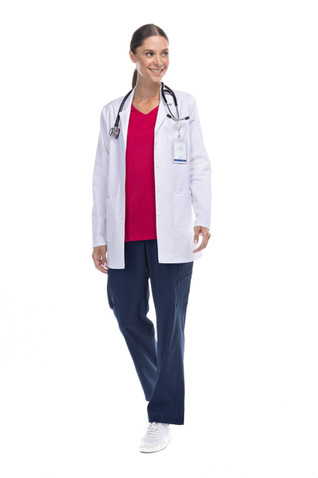Bata médico dama blanca