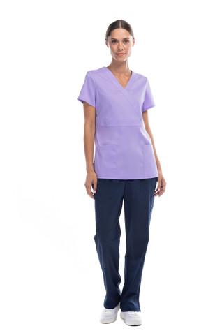 Coordinado lila y azul pijama dama
