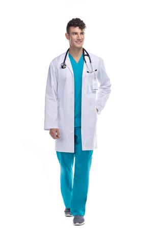 Bata médico caballero blanca