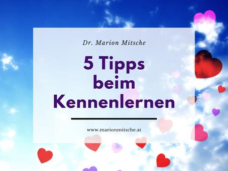 5 Tipps in der Kennenlernphase