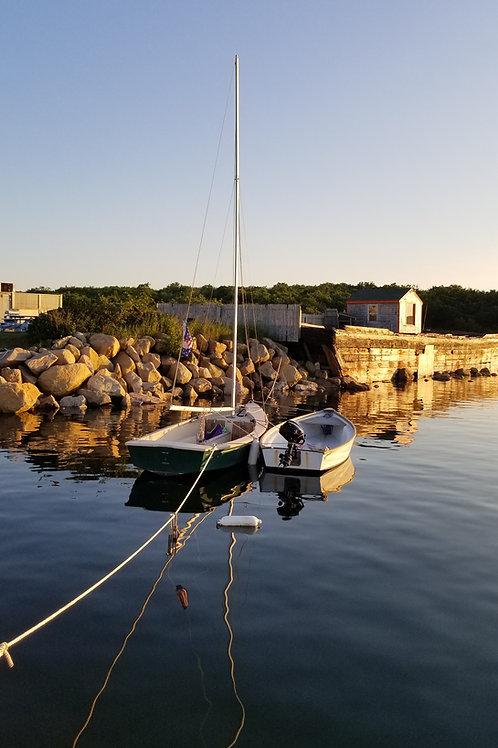 Sailboat In Calm Harbor