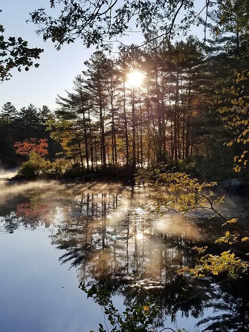 Misty Morning Reflection