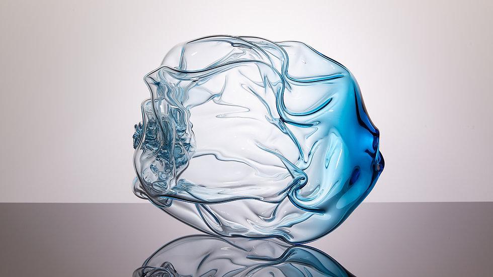 Aqua Blue Crumple