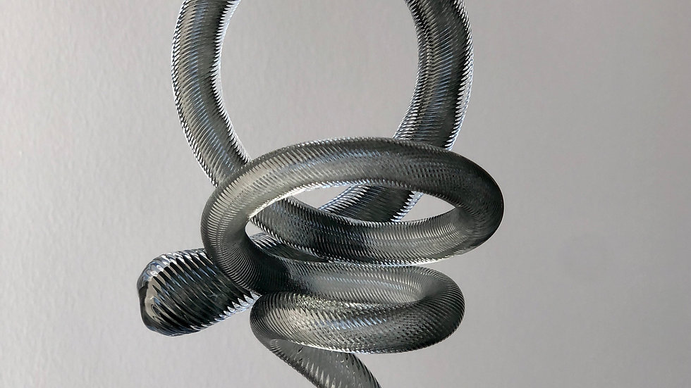 Dark Neutral Grey Knot Ornament