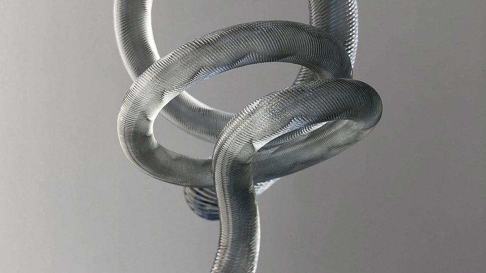 Light Neutral Grey Knot Ornament