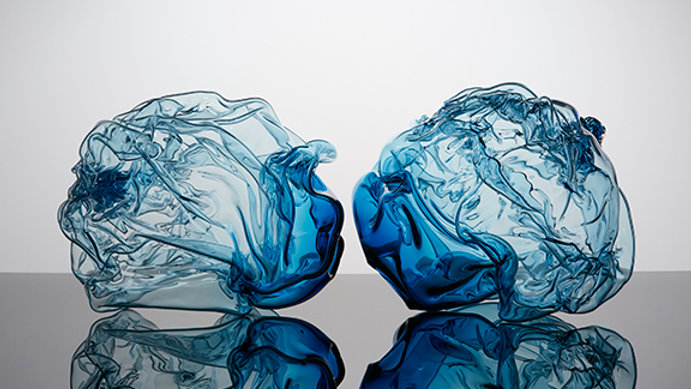Dark Aqua Crumpled Duo