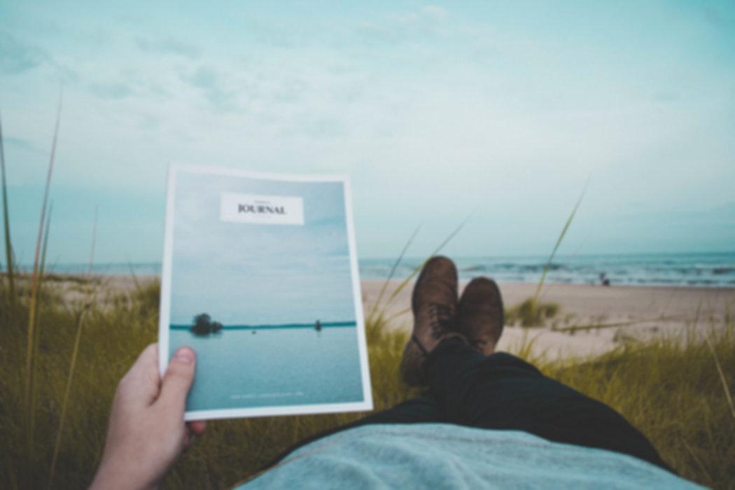 ビーチで読みます