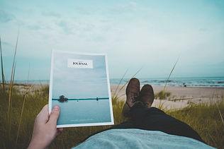 Reading on a Beach