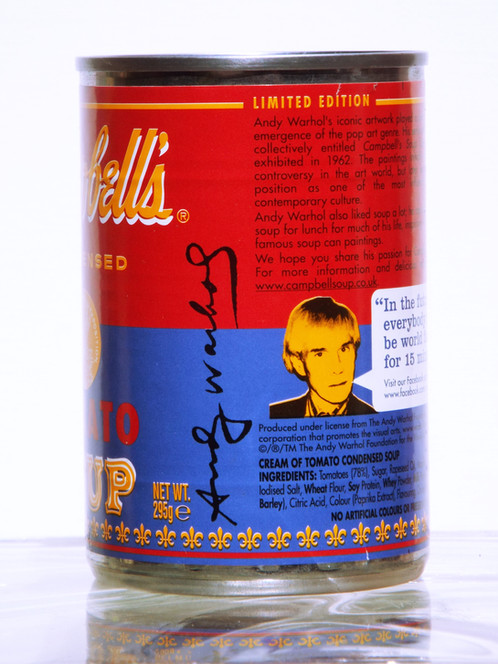 andy warhol campbell soup facts