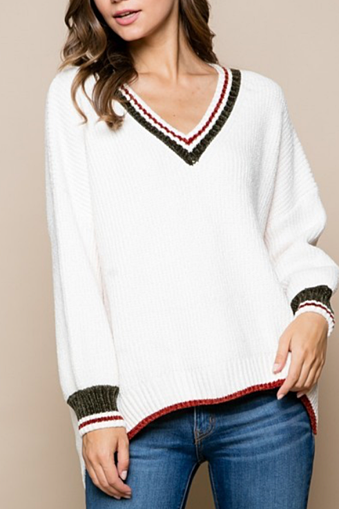 Ivy League V-Neck Sweater