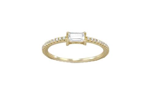 Dainty Baguette Ring