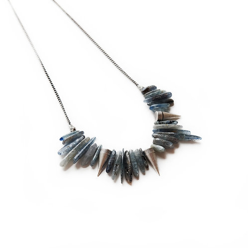 Kyanite + Spikes Necklace