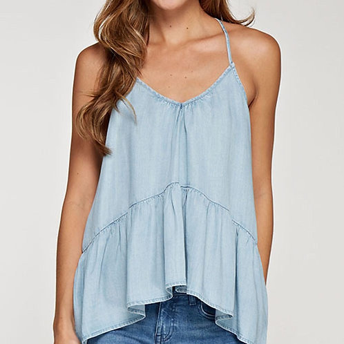 Lt Wash Chambray Tank
