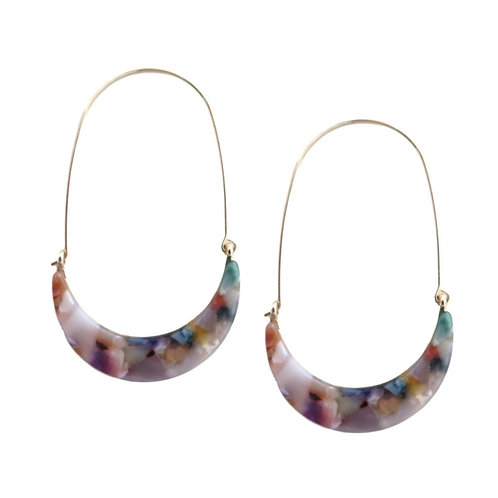 Color Pop Tortoise Hoops