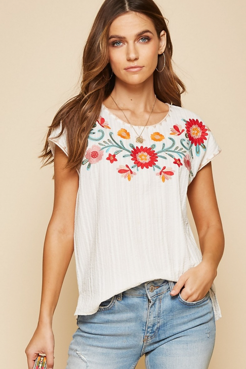 Frida Embroidered Blouse