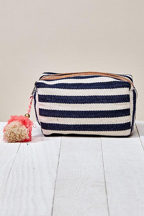 Striped Cosmetics Bag