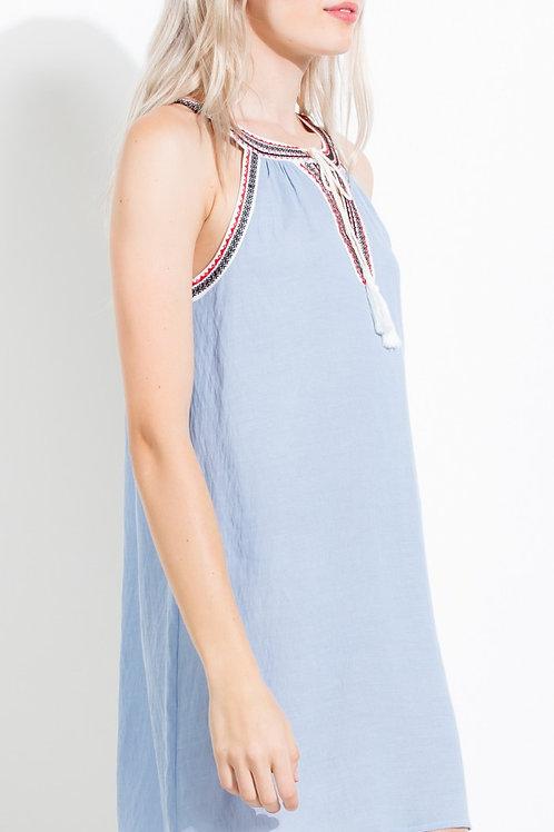 Blue Skies Halter Dress