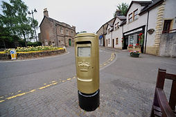 Sir Andy Murray's Gold Post Box for Olympic Gold Medalists