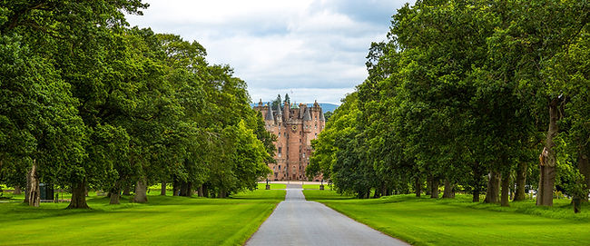 Approach to Glamis Castle