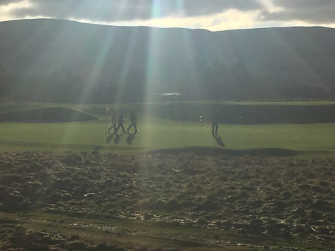 Golfers on Sunny Kings Course Gleneagles