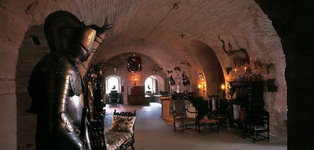 The Crypt inside Glamis Castle Stately home