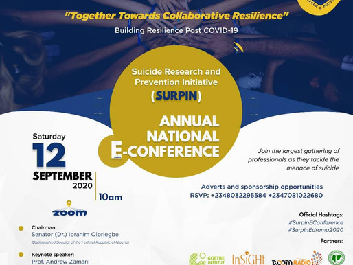 SURPIN Suicide Prevention E-Conference -12th September 2020