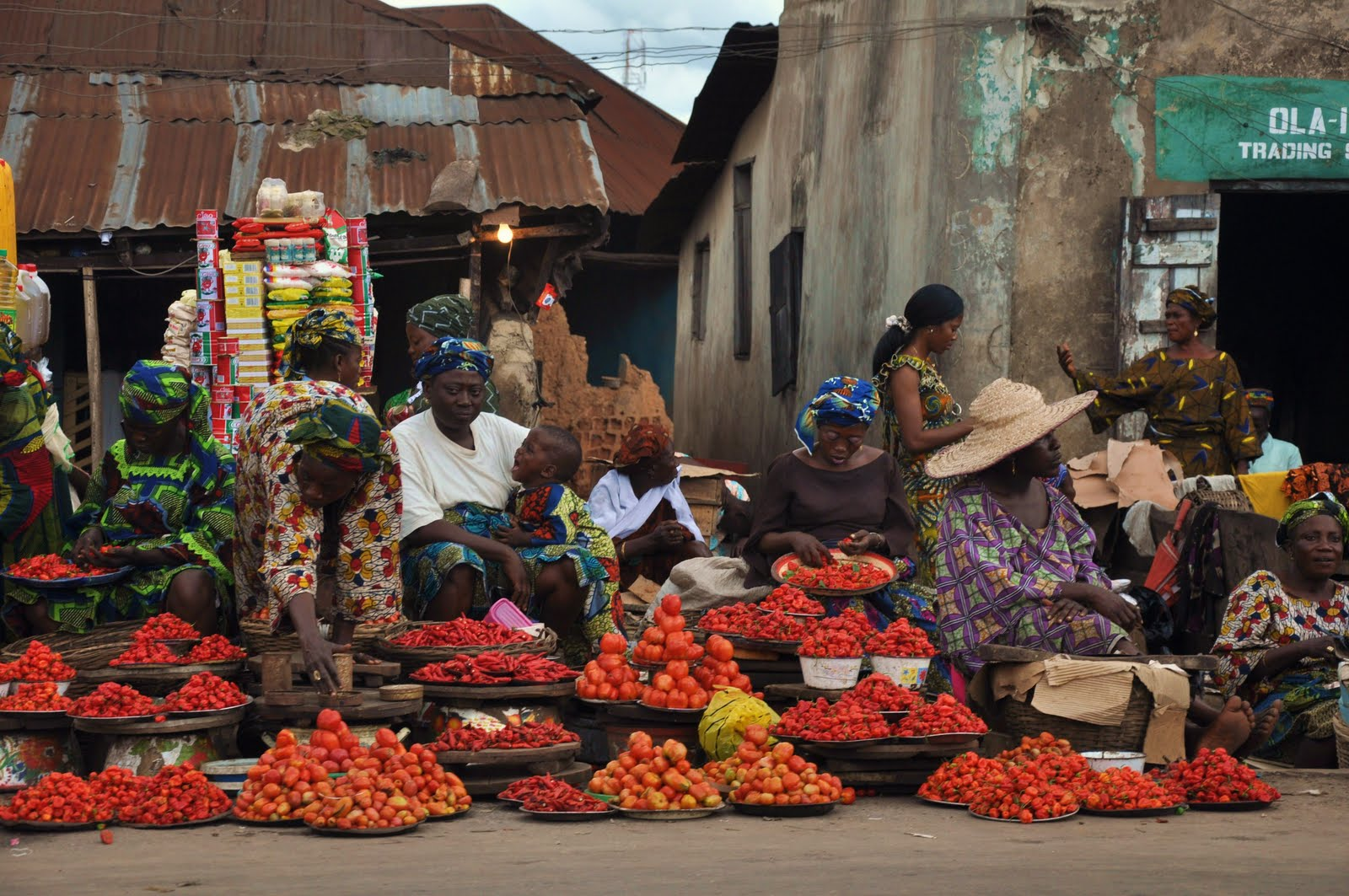 Open-air-market-in-Ibadan-Nigeria