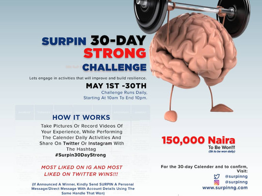 WIN ₦150,000 IN THE SURPIN 30-DAY STRONG CHALLENGE