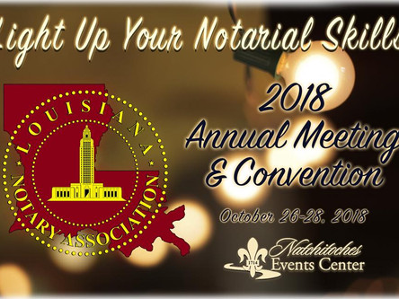 2018 Annual Meeting & Convention Nachitoches, LA