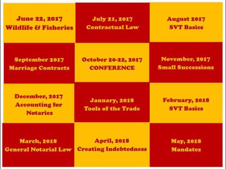 Join Us [LNA] Online for our 2017-2018 Educational Courses!