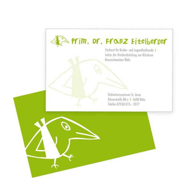 Dr. Eitelberger Visitenkarte
