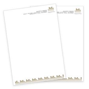 Happy End Music Briefpapier