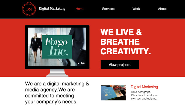 Advertising Marketing Website Templates Digital