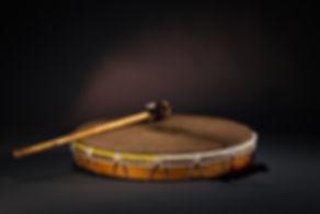 schamanische Rahmentrommel mit Schlegel von Rolf Bachmann