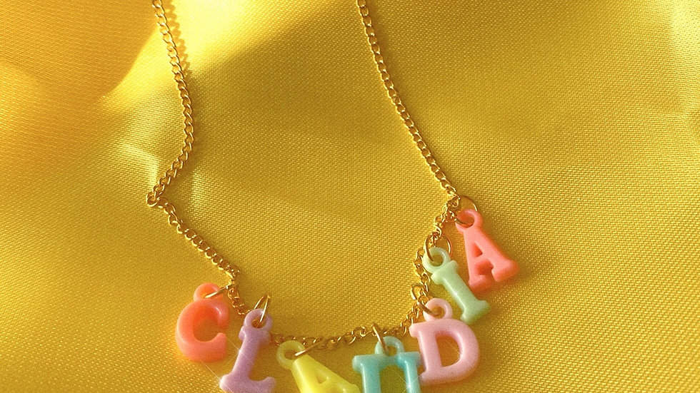 Mini Personalised  Pastel Letter Necklace