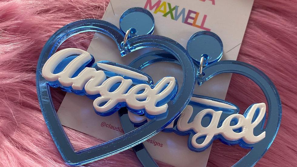 Angel Heart Hoop Earrings